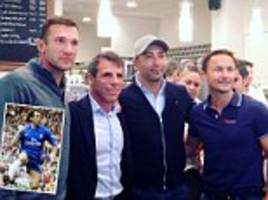 chelsea legend gianfranco zola opens an ice cream store in south london with help from his friends dennis wise, roberto di matteo and andriy shevchenko
