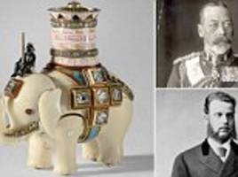 the little elephant that travelled a long way: how fabergé ornament once owned by the tsar ended in buckingham palace