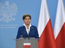 Poland's new PM says the country will not accept an EU quota of 4,500 refugees in the wake of the Paris terror attacks