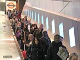 Holborn station tries to ban commuters from walking up the left side of the escalator