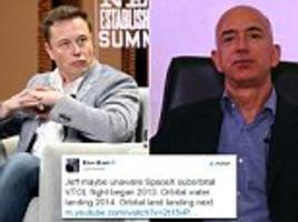 Elon Musk hits out at Jeff Bezos' 'historic' rocket claims in battle of the space billionaires