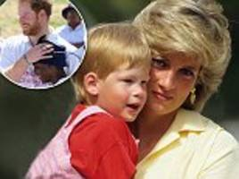 Prince Harry describes the 'gaping hole' left in his life by the death of Diana as he gives a moving speech to orphans in Africa