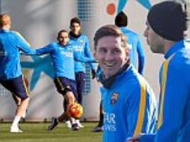 Lionel Messi and Barcelona team-mates gear up for Real Sociedad