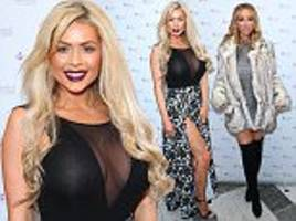 nicola mclean and lauren pope stun at agnes dos santos's perfect eyelashes book launch