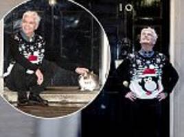 phillip schofield poses at downing street for charity appeal