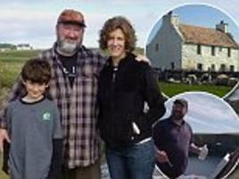 man who left america to live in scotland with his wife and son reveals how divorce left him alone on an island with 55 people
