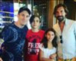 'a great meeting with the best' - pirlo bumps into messi on holiday