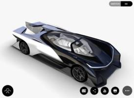 the first car from tesla rival faraday future looks like the batmobile