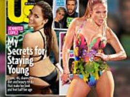 jennifer lopez, 46, doesn't drink alcohol or coffee, sleeps up to 10 hours a night, eats kale and sprouts, and has two trainers