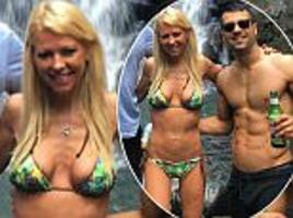 tara reid causes concern as she shows off her thin frame in a bikini