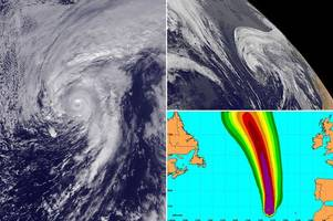 first january hurricane since 1938 threatens '18ft high waves, 100mph winds and life-threatening flash floods'