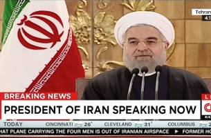 iranian president rouhani speaks on 'historic day' after sanctions lifted