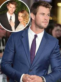 chris hemsworth denies brother liam hemsworth is back with miley cyrus