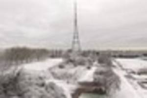 video: stunning drone footage of snowy crystal palace park