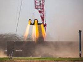 watch spacex 'hover test' of the dragon capsule that will ferry astronauts to the iss