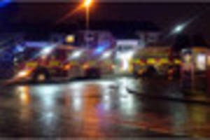 barton street in gloucester closed due to a flat fire