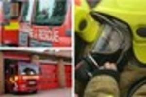two taken to hospital after derbyshire house fire