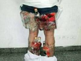 saudi drinker is caught trying to smuggle alcohol into the country