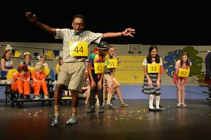 hilarious musical spelling bee this week at cambridge high school
