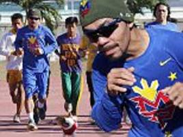 manny pacquiao steps up training in the philippines as he prepares for career swansong bout with timothy bradley