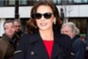 catherine zeta-jones looked the part for dad's army role at bbc...