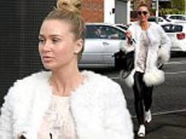 alex gerrard hides her gym-honed body for pampering session in liverpool