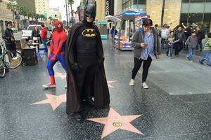 one batman's story: hollywood hates donald trump's walk of fame star