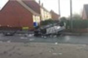 Man thrown from car after crash remains in hospital