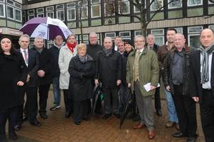unison members take to the streets to protest against upcoming council cuts