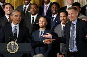 President Obama burned the Warriors with a scorching '95-96 Bulls joke