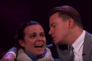 Channing Tatum Whispers Sweet Candy Heart Nothings in Lucky Lady's Ear (Video)