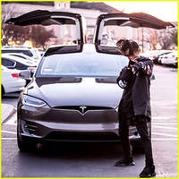 jaden smith buys tesla model x, a car not yet on the market