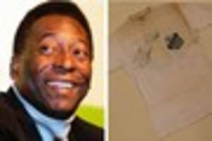 Rare football shirt signed by Brazilian legend Pele to be...
