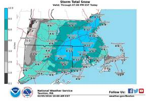 Latest Forecast: Storm Could Drop a Foot of Snow on Chelmsford