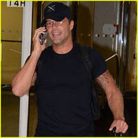 Ricky Martin Lands in Puerto Rico for a Winter Getaway