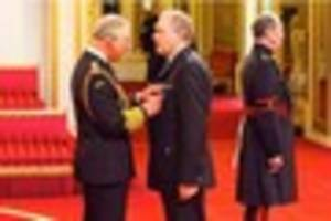 prince charles presents queen's medal to detective superintendent...