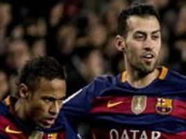 Barcelona duo Neymar and Sergio Busquets both targeted by Manchester City as Pep Guardiola eyes £150m double swoop