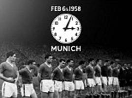 manchester united players pay tribute to victims of munich air disaster on 58th anniversary of tragedy
