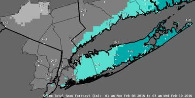 Long Island Weather: 3 Straight Days of Snow Possible, Starting Monday Morning