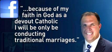 Catholic Justice Of The Peace Won't Marry Same-Sex Couples (Video)