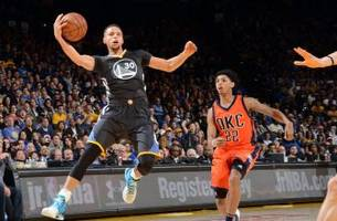 warriors open 20-point lead, then hold on to beat thunder