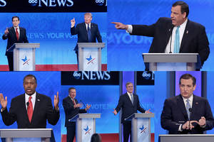 9 memorable gop debate moments: rubio stuck on repeat, trump booed, christie on the attack