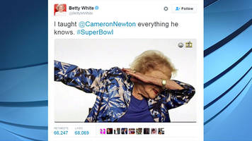 Betty White's dab goes viral after Super Bowl 50 opener