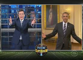 Did President Obama Predict the Right Winner of Super Bowl 50? Watch Him in 'Late Show' Skit