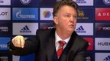 video: 'you're getting sacked' - lvg to reporter