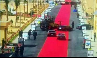 egypt's president uses 2.5-mile red carpet to inaugurate social housing project