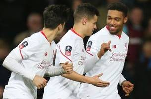 Coutinho free-kick goes underneath the wall to equalize against West Ham   2015-16 FA Cup Highlights