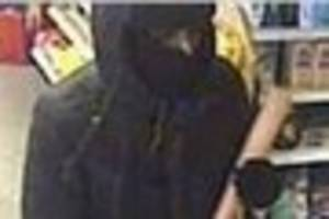 CCTV released of man who stole from petrol station shop armed...