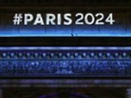 paris show off eiffel tower-shaped logo in a ceremony on the champs elysees as they ramp up bid to host 2024 olympic games