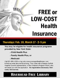 free or low-cost health insurance